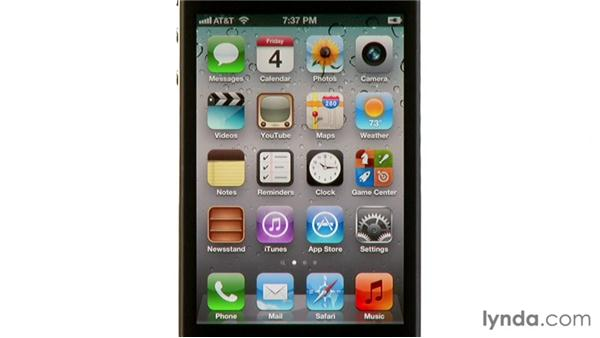 Charging the battery: iPhone and iPod touch iOS 5 Essential Training