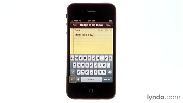 Understanding the keyless keyboard: iPhone and iPod touch iOS 5 Essential Training