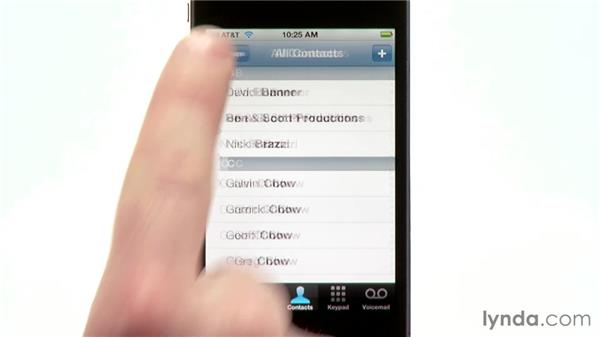 Adding recent calls to your contacts: iPhone and iPod touch iOS 5 Essential Training