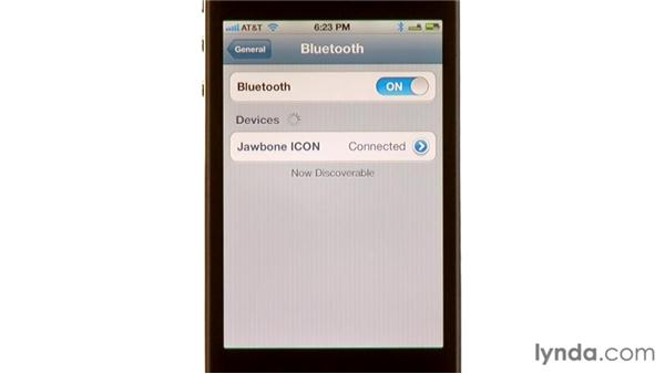Connecting a Bluetooth headset: iPhone and iPod touch iOS 5 Essential Training