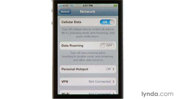 Internet tethering: iPhone and iPod touch iOS 5 Essential Training
