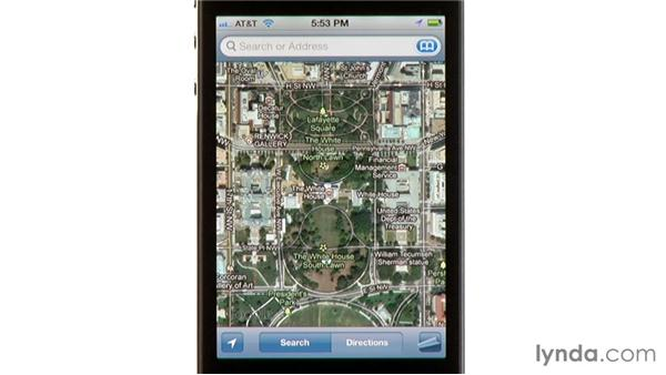 Showing traffic and alternate maps: iPhone and iPod touch iOS 5 Essential Training