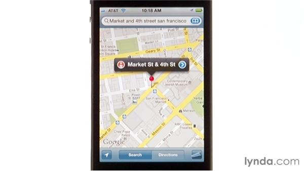 Using Street View: iPhone and iPod touch iOS 5 Essential Training