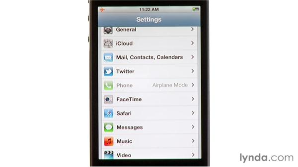 Airplane mode: iPhone and iPod touch iOS 5 Essential Training