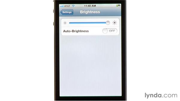 Brightness: iPhone and iPod touch iOS 5 Essential Training