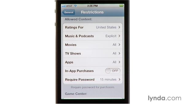 Restrictions: iPhone and iPod touch iOS 5 Essential Training