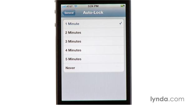 Auto-lock: iPhone and iPod touch iOS 5 Essential Training