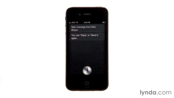 Listening and responding to messages: iPhone and iPod touch iOS 5 Essential Training
