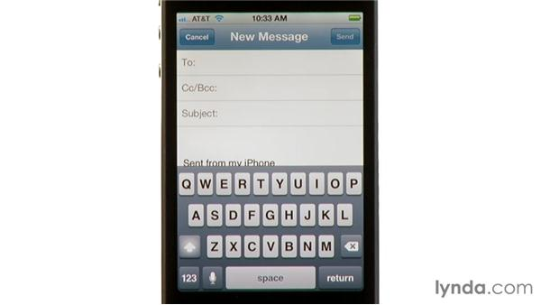 Dictating in apps: iPhone and iPod touch iOS 5 Essential Training