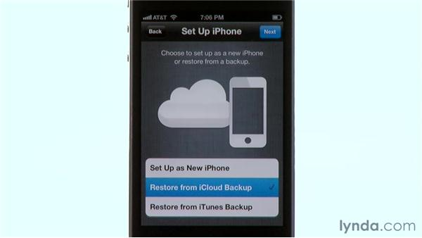 Erasing and restoring: iPhone and iPod touch iOS 5 Essential Training