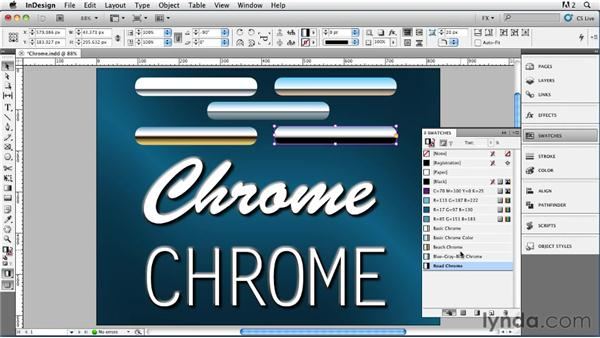021 Creating Metallic Chrome Effects: InDesign FX