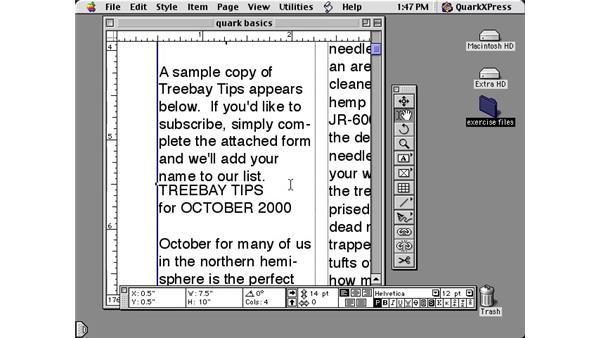 quark basics part three: Learning QuarkXPress 5