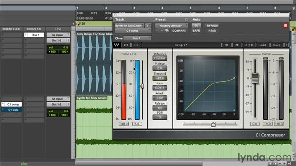 Using side chains creatively: Foundations of Audio: Compression and Dynamic Processing