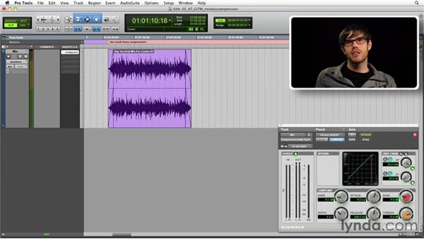 Get in the Mix: Using mix bus compression: Foundations of Audio: Compression and Dynamic Processing