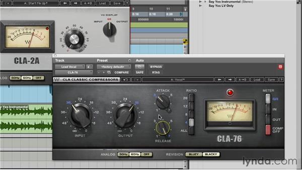 "Working with ""modeled"" vintage compressor/limiter plug-ins: Foundations of Audio: Compression and Dynamic Processing"