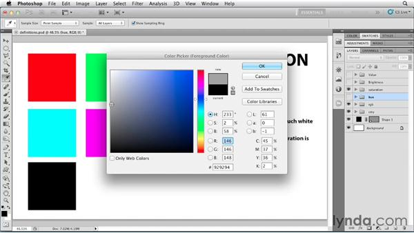 Defining color terms: Photoshop for Designers: Color