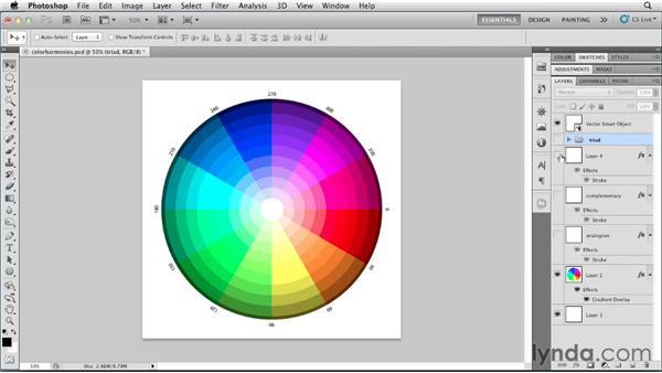 Understanding color relationships: Photoshop for Designers: Color