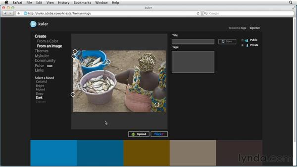Using the Kuler web site: Photoshop for Designers: Color