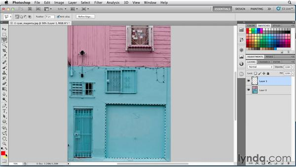 Understanding the role of foreground and background colors: Photoshop for Designers: Color