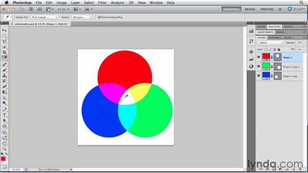 Understanding additive and subtractive color: Photoshop for Designers: Color