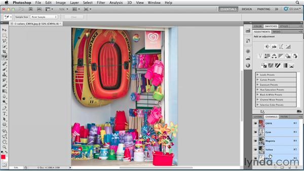 CMYK mode: Photoshop for Designers: Color
