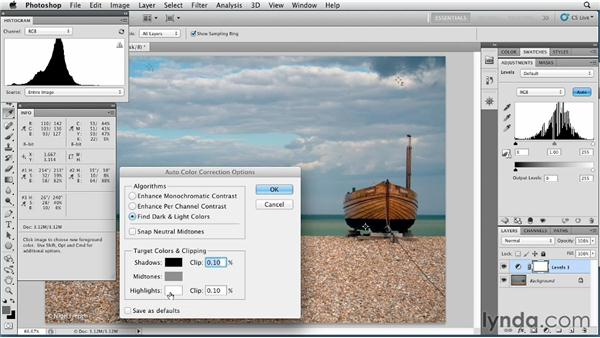 Auto Tone and Auto Contrast: Photoshop for Designers: Color
