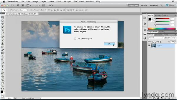 Color correction with variations: Photoshop for Designers: Color (2012)