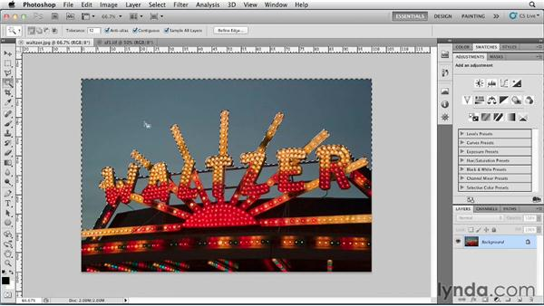 Selecting color with the Magic Wand: Photoshop for Designers: Color