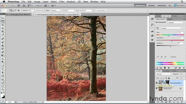 Selecting color with Color Range: Photoshop for Designers: Color