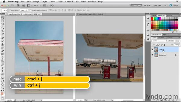 Matching colors using the Match Color command: Photoshop for Designers: Color (2012)