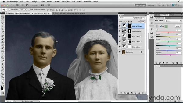 Creating a hand-tinted portrait (the harder way): Photoshop for Designers: Color
