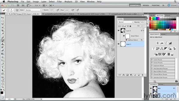 Creating an Andy Warhol look: Photoshop for Designers: Color