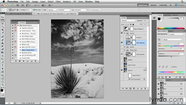 Sepia toning an image: Photoshop for Designers: Color
