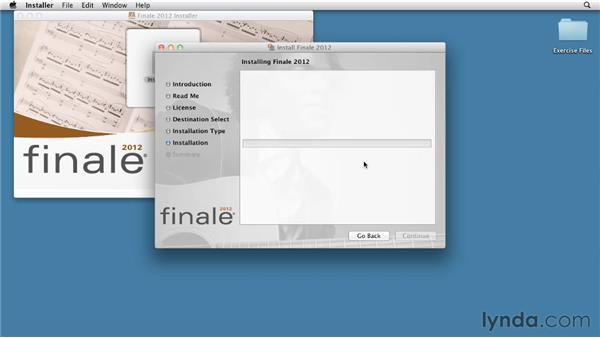 Mac installation: Finale 2012 Essential Training