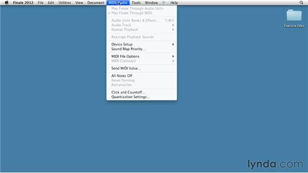 MIDI system setup (Mac): Finale 2012 Essential Training