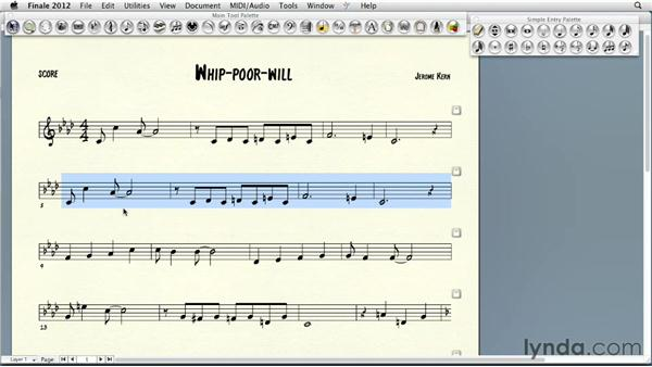 Selecting, copying and pasting, and transposing: Finale 2012 Essential Training