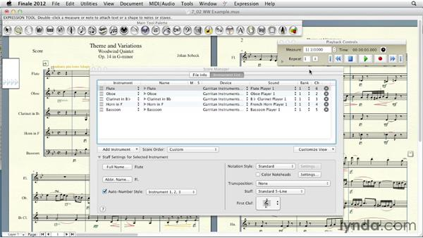 Selecting instrument sounds: Finale 2012 Essential Training