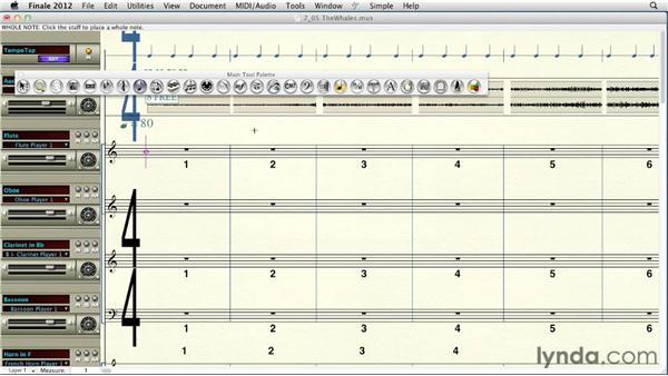 Importing audio: Finale 2012 Essential Training