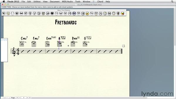 Editing and creating fretboard diagrams: Finale 2012 Essential Training
