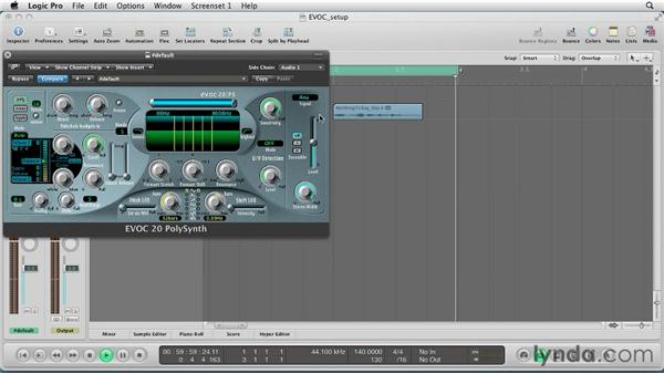 Vocoding Basics: Making your synth sing!: Virtual Instruments in Logic Pro