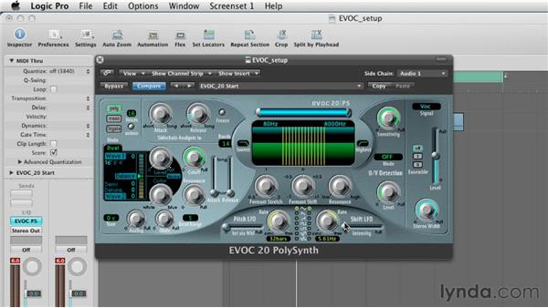 Tweaking the formants and adding movement with the LFO's: Virtual Instruments in Logic Pro