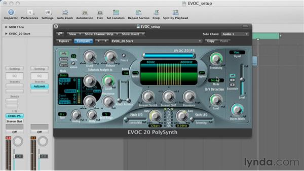 Getting more intelligible results with U/V detection: Virtual Instruments in Logic Pro