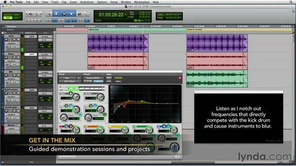 "Using the ""Get In the Mix"" Pro Tools and Logic Pro session files: Foundations of Audio: EQ and Filters"