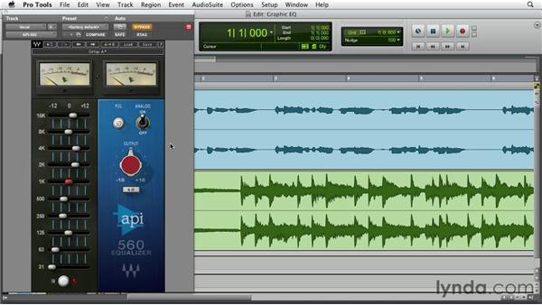 Using graphic EQ: Foundations of Audio: EQ and Filters