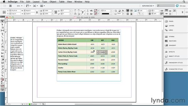 "The three ""Golden Rules"": InDesign Tables In Depth (2012)"