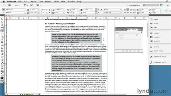 Creating pull quotes and design objects using tables: InDesign Tables In Depth (2012)