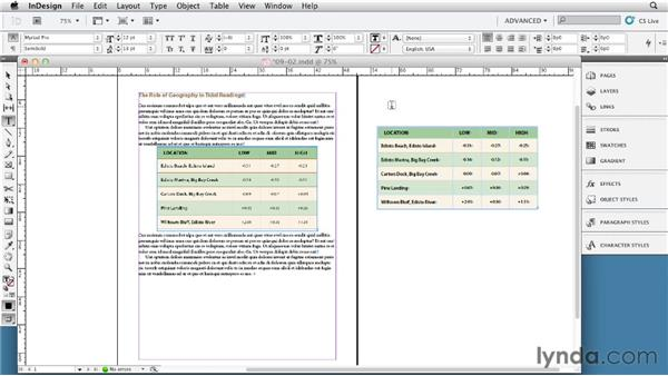 Converting tables to graphics for export: InDesign Tables In Depth (2012)