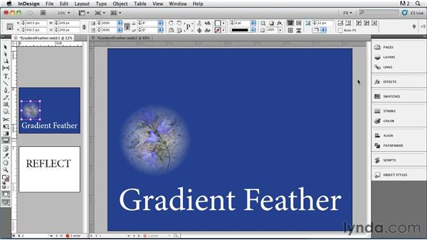 024 Exploring Gradient Feather Settings: InDesign FX