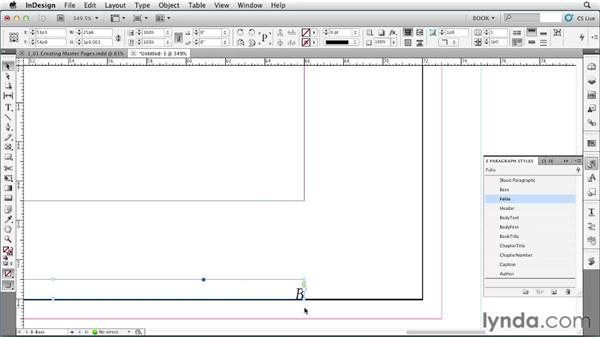 Using master pages: Creating Long Documents with InDesign