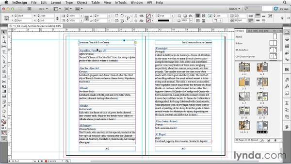 Using section markers: Creating Long Documents with InDesign